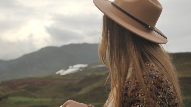 Girl Writer in Beautifully Scenic Nature thumbnail