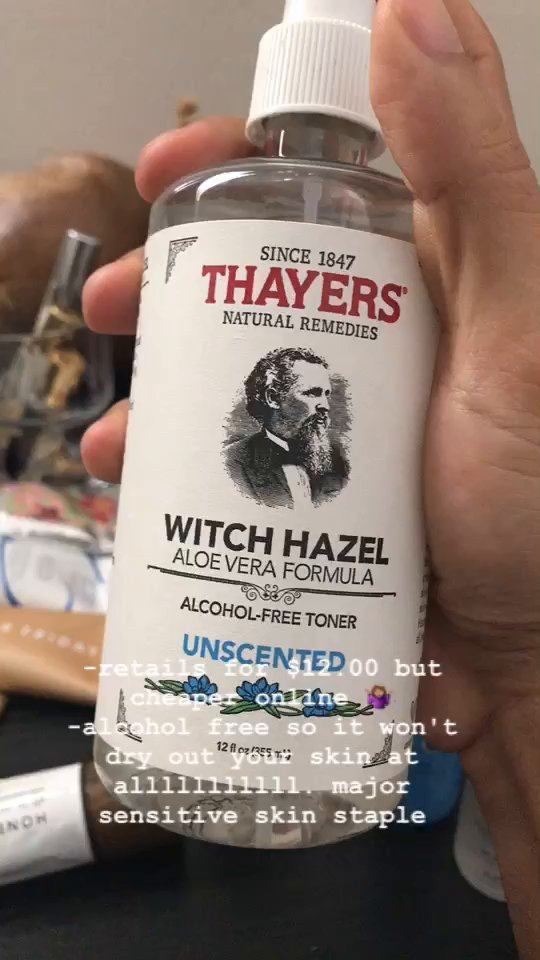 review of Thayers  Unscented Witch Hazel Toner