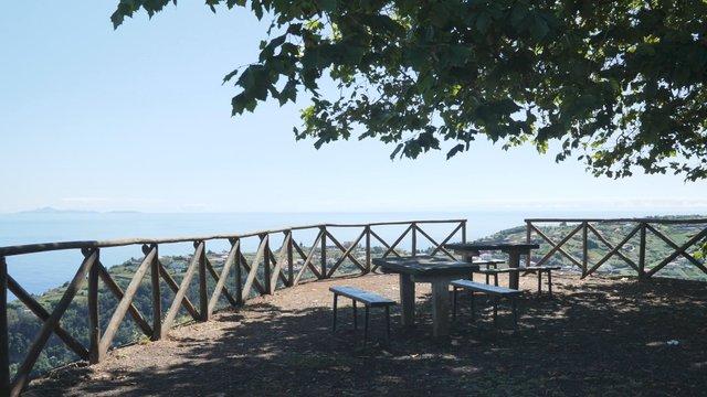 Relax Zone Under a Green Tree Near a Precipice thumbnail