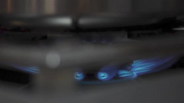 Close-up of Lit Stove  thumbnail