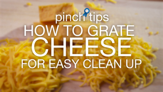 How to Grate Cheese for Easy Clean Up