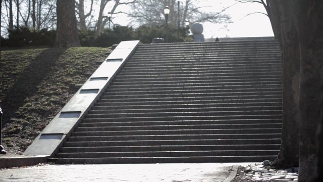 Jogging up the Park Stairs thumbnail
