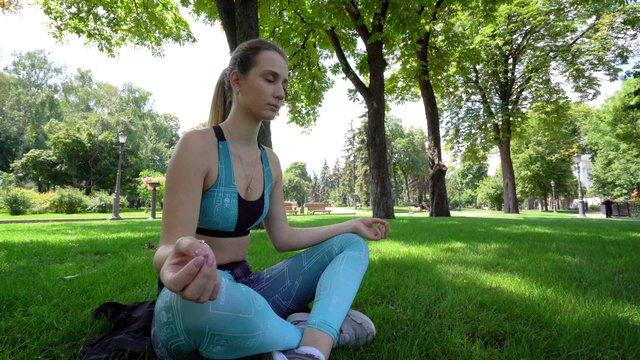Meditation Woman In the Park thumbnail