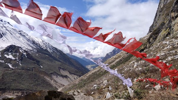 Each and breath you take is blessed with the mantras of god. #north #sikkim #zeropoint #buddhism