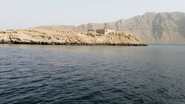 Boating trip to musandam khasab enter to fijords can see natural dolphins,there is two Islands.