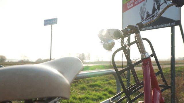 Panning Shot Of A Red Bike  thumbnail