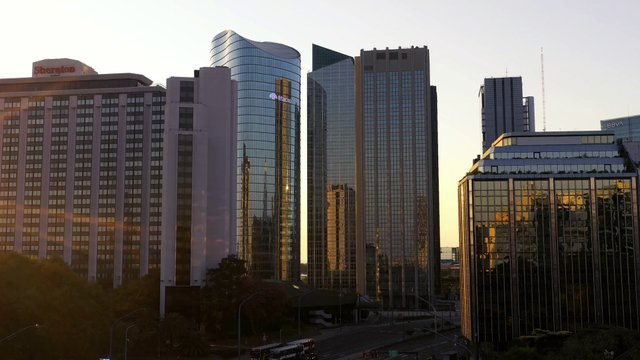 Sunrise On Skyscrapers In Buenos Aires  thumbnail