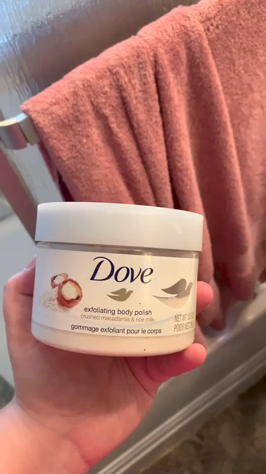 Dove Dove Exfoliating Body Polish Body Scrub Macadamia Rice Milk 10 5 Oz Reviews Supergreat