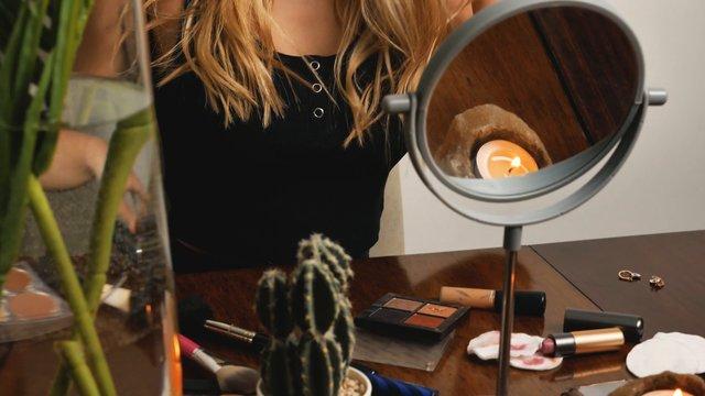Girl Brushing Her Blonde Hair  thumbnail