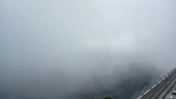 Beautiful mount Batur with clouds