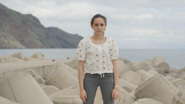 Upset Young Girl at the Bay  thumbnail