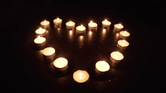Heart Shaped With Candles thumbnail