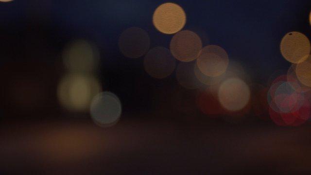 Blurred Car Lights At Night thumbnail