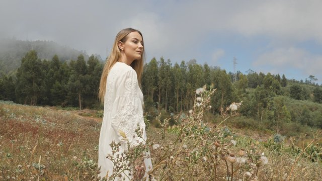 Blonde Model Poses in the Glade thumbnail