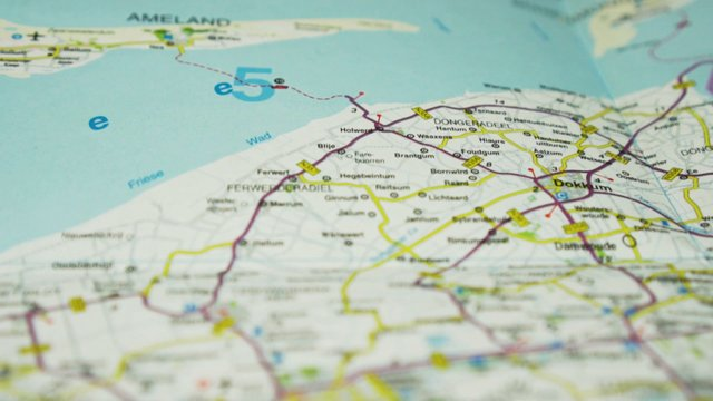 Panning Shot Of A Map Of The Netherlands thumbnail