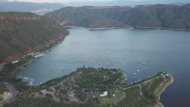 Aerial View of Berth with Yachts in Salta, Argentina thumbnail