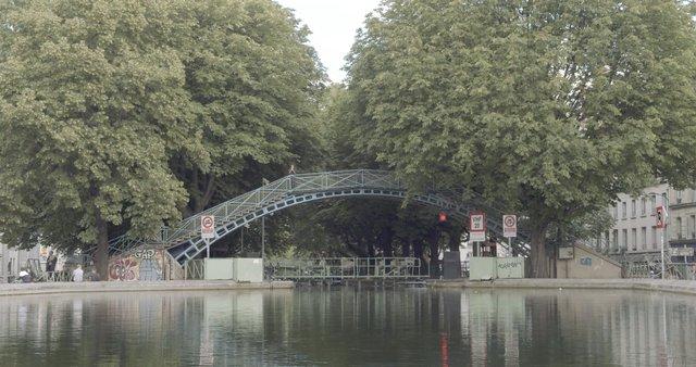 Bridge above Saint Marin Canal in Paris  thumbnail