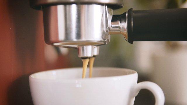 Panning Shot Of Coffee Machine thumbnail