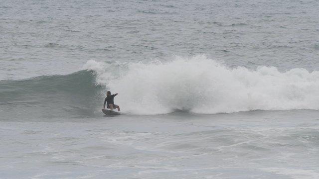 Man Rides on Foamy Waves thumbnail
