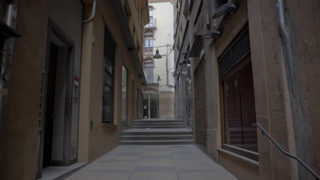 Empty Spanish Commercial Street thumbnail