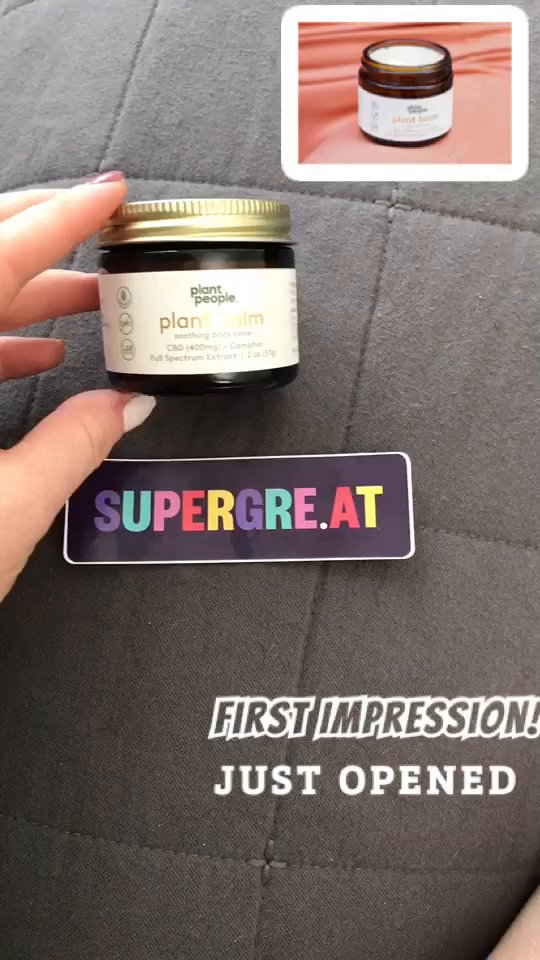 review of Plant People CBD Plant Balm