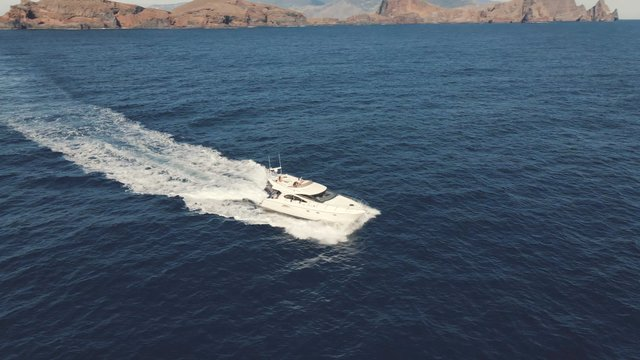 People on Cruising Boat in the Ocean thumbnail