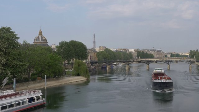 Boats On The Seine In Paris  thumbnail