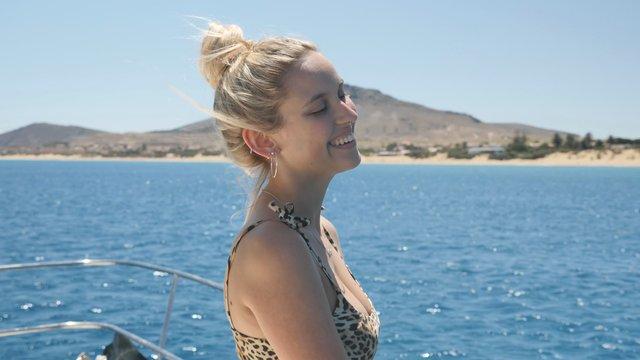 Happy Girl on Boat thumbnail