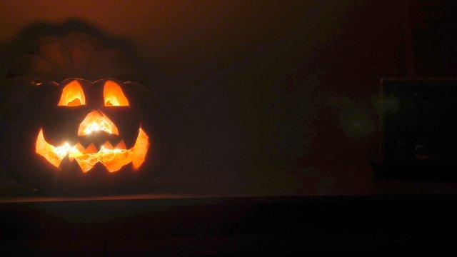 Orange Carved Pumpkin for Halloween Celebrate thumbnail