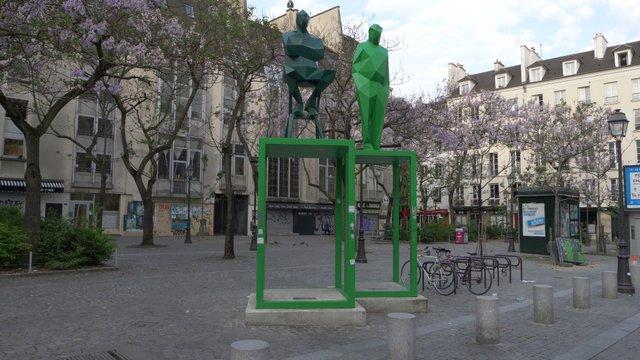 Edmond Michelet Sculpture On Empty Street thumbnail