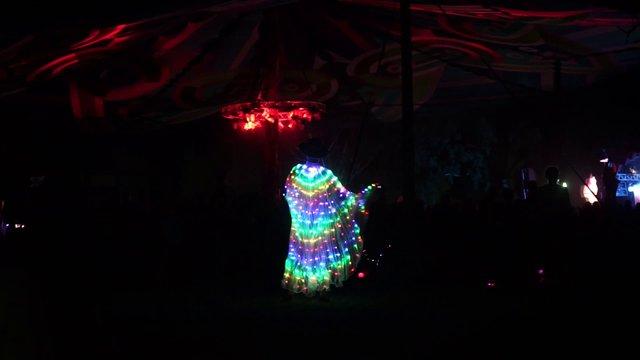 Butterfly Light Costume At Music Festival thumbnail