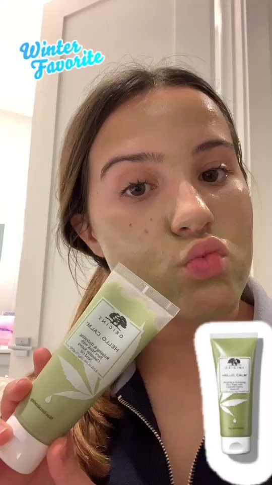 review of Orgins Hello, Calm Face Mask with Cannabis Sativa Seed Oil