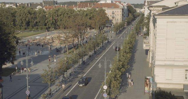 Golden Hour on Gedinimo Avenue in Vilnius  thumbnail