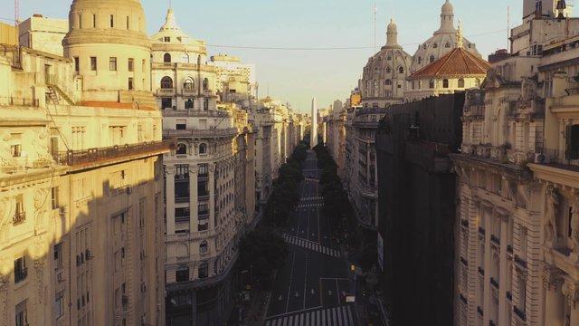 Empty Street Near Obelisco Monument  thumbnail