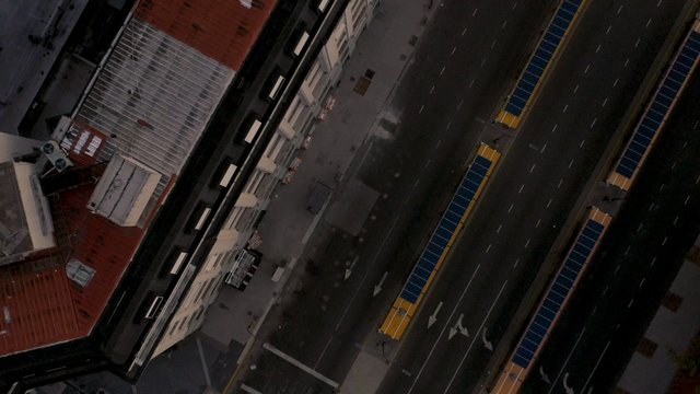 Top View Empty Roads In Buenos Aires thumbnail