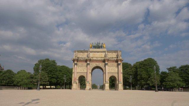 Arc De Triomphe Du Carrousel In Paris  thumbnail