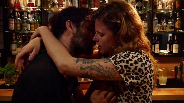 Lovers Kiss At The Bar  thumbnail