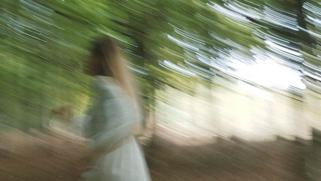 Girl Is Running in the Forest thumbnail