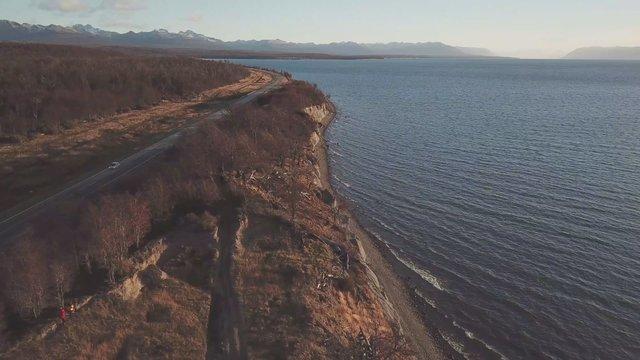 Top View Of Coastline In Tierra Del Fuego Argentina thumbnail