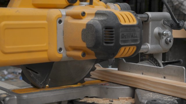 Cutting Wood Building Material With a Circular Electric Saw thumbnail