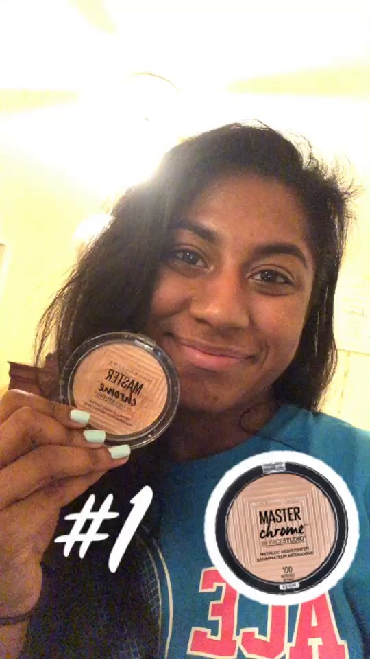 review of Maybelline Master Chrome Metallic Highlighter, Molten Gold