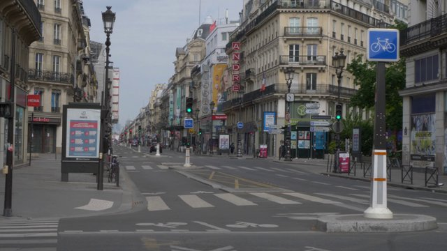 Empty Rue de Rivoli In Paris  thumbnail