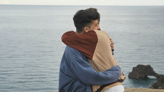 Young Couple Hugging. Isolated Shot Stock Image - Image of