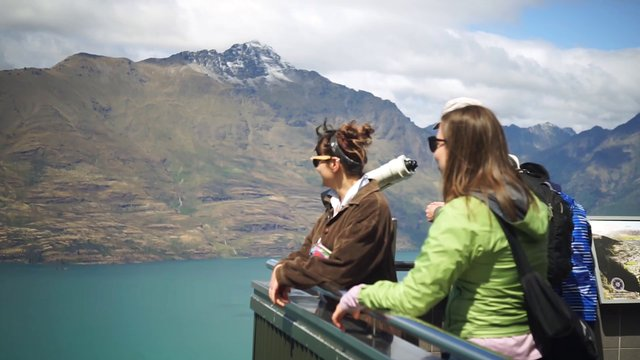 People Looking At The View In Queenstown NZ thumbnail