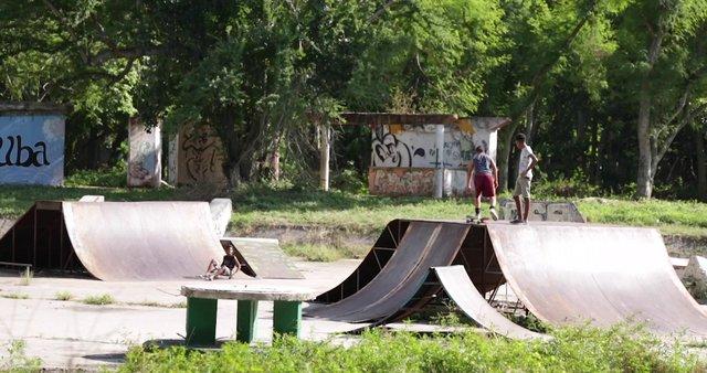 Children Skateboarding in Park thumbnail