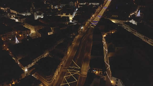 Drone View of an Illuminated City thumbnail