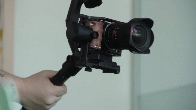 Man Handling a Steady Sony Cam thumbnail