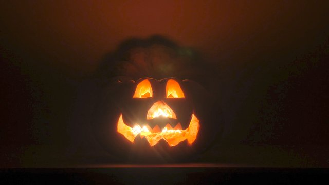 Halloween Pumpkin on Dark Background thumbnail