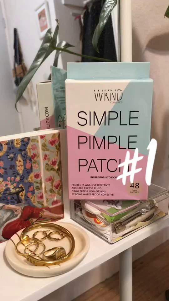 review of WKND Cosmetics SIMPLE PIMPLE PATCH - Hydrocolloid Acne & Blemish Patches | Quick Invisible On the Go Natural Breakout Treatment | Stress & Mess Free Dot Covers for Zits & Whiteheads | Discreetly Absorbs Gunk & Oil