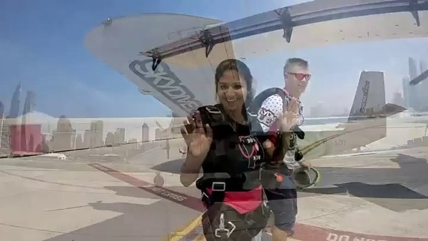 Jumping out of plane from 13,000 ft. Not every girl dreams of it.